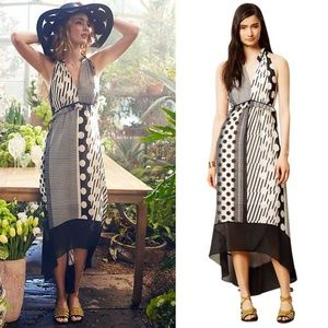 NWOT Anthro MAEVE Channeled Dot Hi Lo Maxi Dress 8